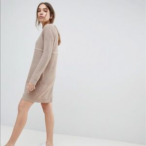 ASOS Dresses - ASOS Chunky Knit Dress In Rib With High Neck